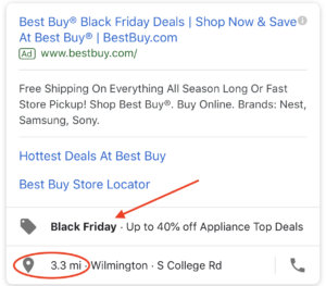 Google Ads Holiday Shopping limited time ad extension